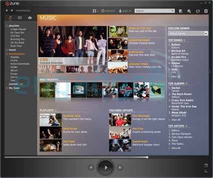 Zune Marketplace screenshot: www.crunchgear.com